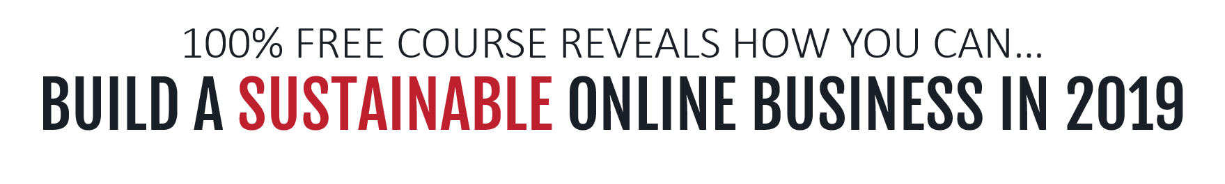 100 percent free course reveals how you can build a sustainable online business in 2019