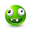 {green}:crazy: